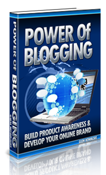 Power of Blogging E-Book Download
